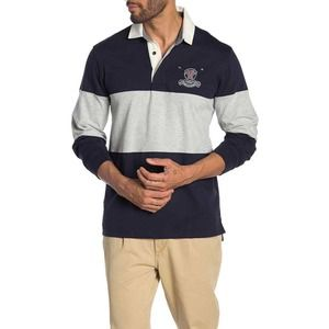 Tailor Vintage Rugby Shirt Navy / Gray Heather S